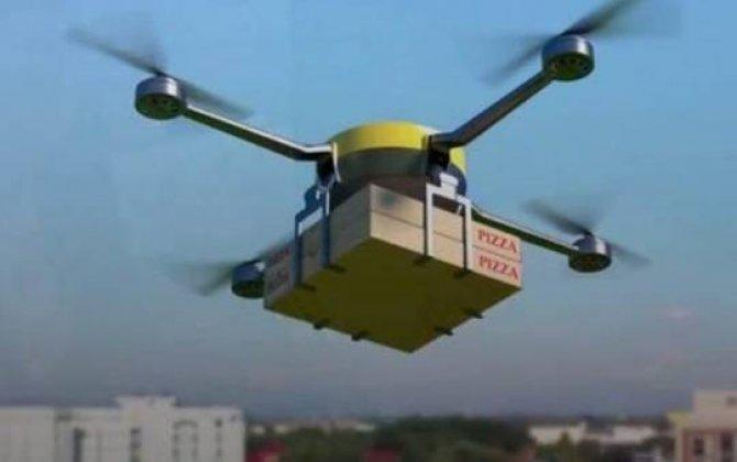 Artıq pizza dronlarla çatdırılacaq...