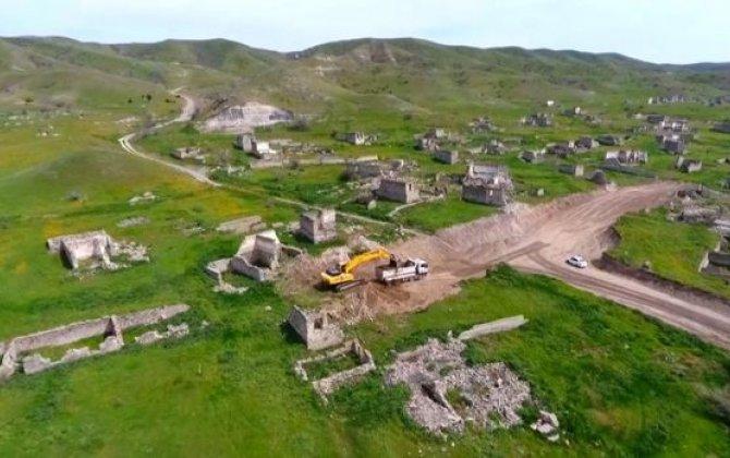 Xudafərin-Qubadlı-Laçın avtomobil yolunun tikintisinə başlanıldı - FOTO