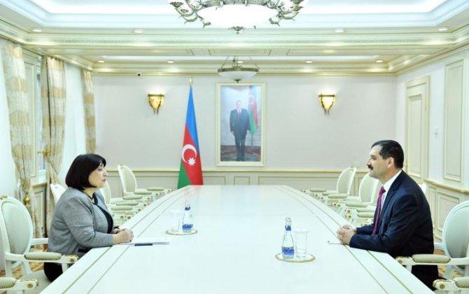 Sahibə Qafarova Türkiyənin ölkəmizdəki səfiri ilə görüşüb - FOTO