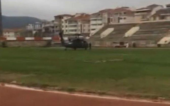 Türkiyə DİN rəhbərinin helikopteri məcburi eniş edib – VİDEO