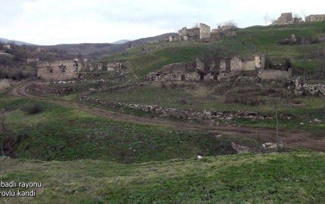 Qubadlı rayonunun Tarovlu kəndindən görüntülər - VİDEO