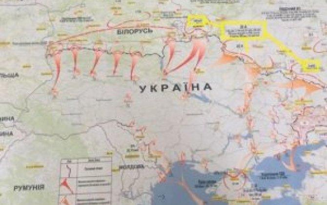 Rusiyanın Ukraynaya hücum xəritəsi yayıldı - Belarus istiqamətindən də hazırlanır... - FOTO