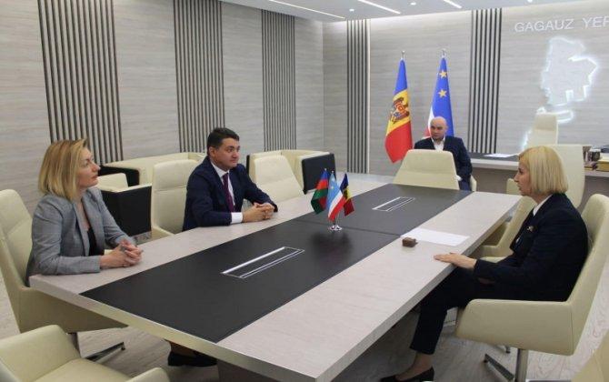 Moldova Azərbaycanlıları Konqresinin sədri Qaqauziya rəhbəri ilə görüşüb - FOTOLAR