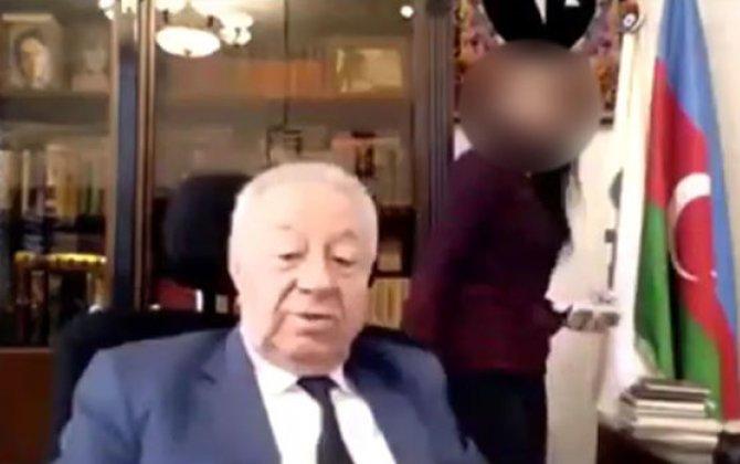 Sabiq deputat Hüseynbala Mirələmovun biabırçı videosu yayıldı - VİDEO