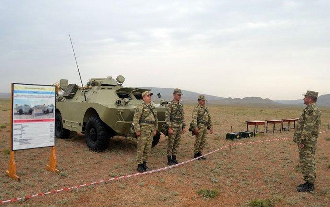 Azərbaycan Ordusunun radiasiya, kimyəvi və bakterioloji mühafizə bölmələrinin döyüş hazırlığı yüksəldilir