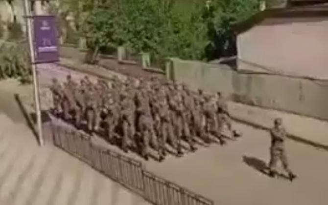Şuşada Mehtər marşı ilə yürüş... - VİDEO