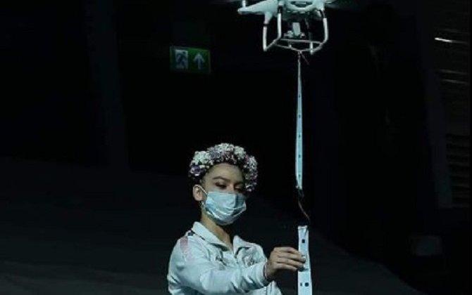 Bakıdakı Dünya Kubokunda medallar dronla təqdim olundu - Foto