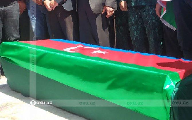 Azərbaycan ordusunun göldə boğulan kapitanı dəfn edildi - FOTO