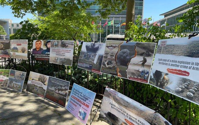 BMT-nin və nüfuzlu media qurumlarının Nyu-Yorkdakı binaları önündə azərbaycanlı jurnalistlər yad edilib