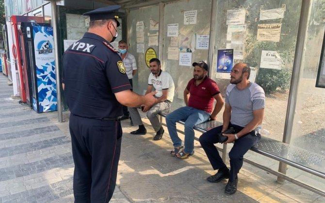 Polis Siyəzəndə reyd keçirdi: maska taxmayanlar cərimələndi - FOTO