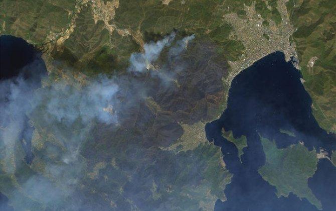 Türkiyədəki yanğınların kosmosdan görüntüsü - FOTO