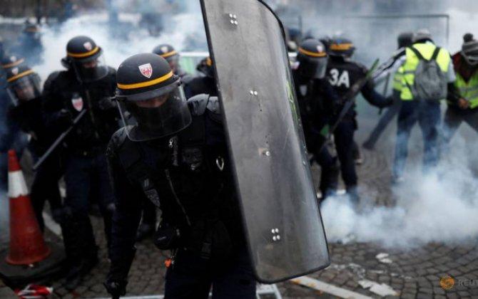 Fransada etiraz aksiyaları: 76 nəfər saxlanıldı