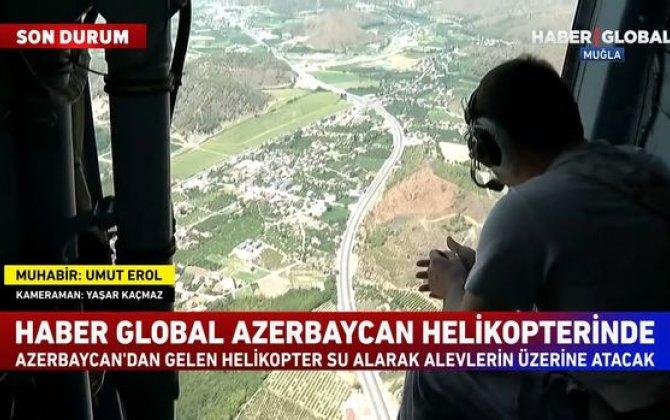 Azərbaycan helikopteri Türkiyədəki yanğınları belə söndürdü - VİDEO
