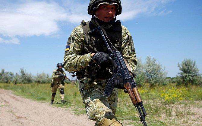 Ukrayna Rusiya ilə sərhəddə təlim keçirdi