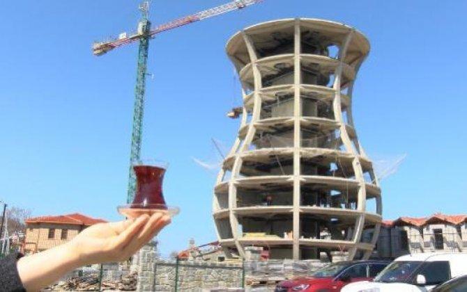 """Bu şəhərdə 29 metr hündürlüyündə """"armudu stəkan"""" tikilir...-FOTOLAR+VİDEO"""