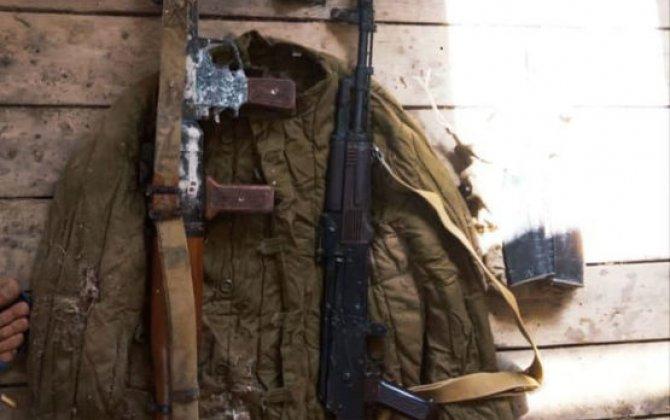 Sabirabadda silah-sursat tapılıb - FOTO