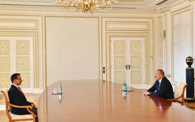 """İlham Əliyev """"DP World"""" şirkətlər qrupunun sədrini qəbul etdi"""