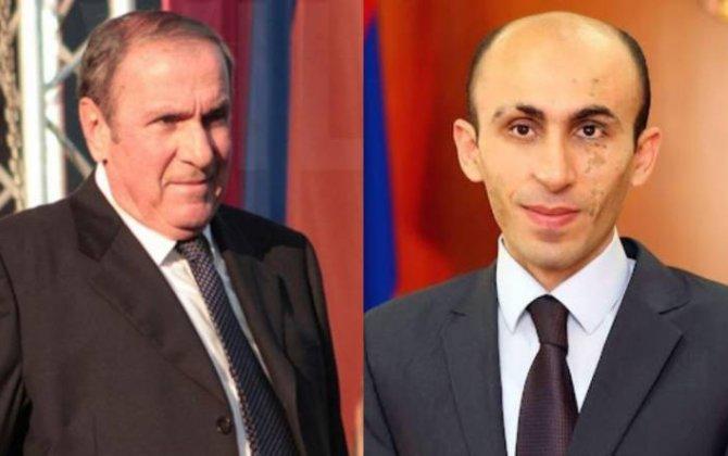 """Ermənistanın birinci prezidenti Qarabağdakı separatçı """"naziri"""" malikanəsində qəbul etdi..."""
