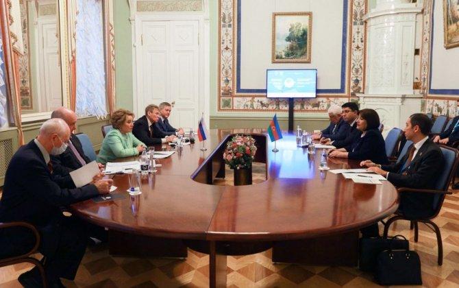 Sahibə Qafarova Rusiya Federasiya Şurasının sədri Valentina Matviyenko ilə görüşüb