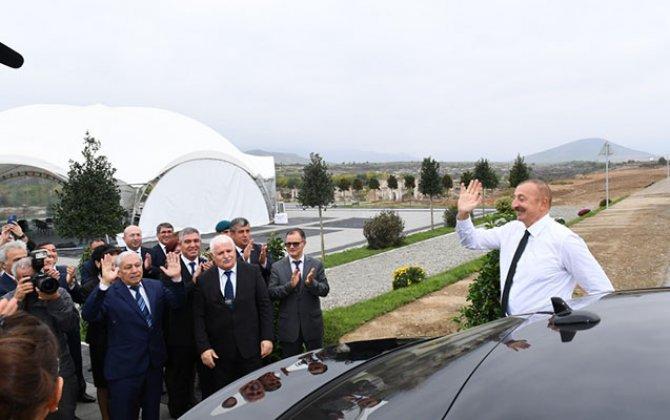 Prezidentlə xanımının Füzuli səfərindən -