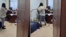 İşçilərini cinsi istismar edən müdirini bu cür cəzalandırdı - VİDEO