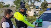 Goranboyda DYP reyd keçirib, 15 sürücü cərimələnib - FOTO