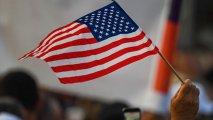 Paşinyanın tərəfdarlarının mitinqində ABŞ bayrağı qaldırıldı - VİDEO