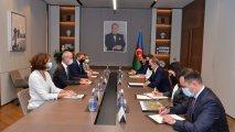 Ceyhun Bayramov BQXK-nın vitse-prezidenti ilə görüşüb