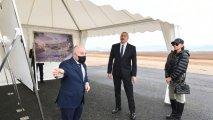 Prezident və birinci vitse-prezident Zəngilan beynəlxalq aeroportunda görülən işlərlə tanış olublar - FOTO